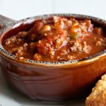 wendys chili in bowl