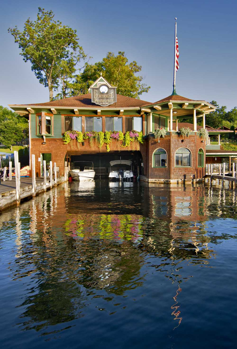 exterior of boathouse restaurant