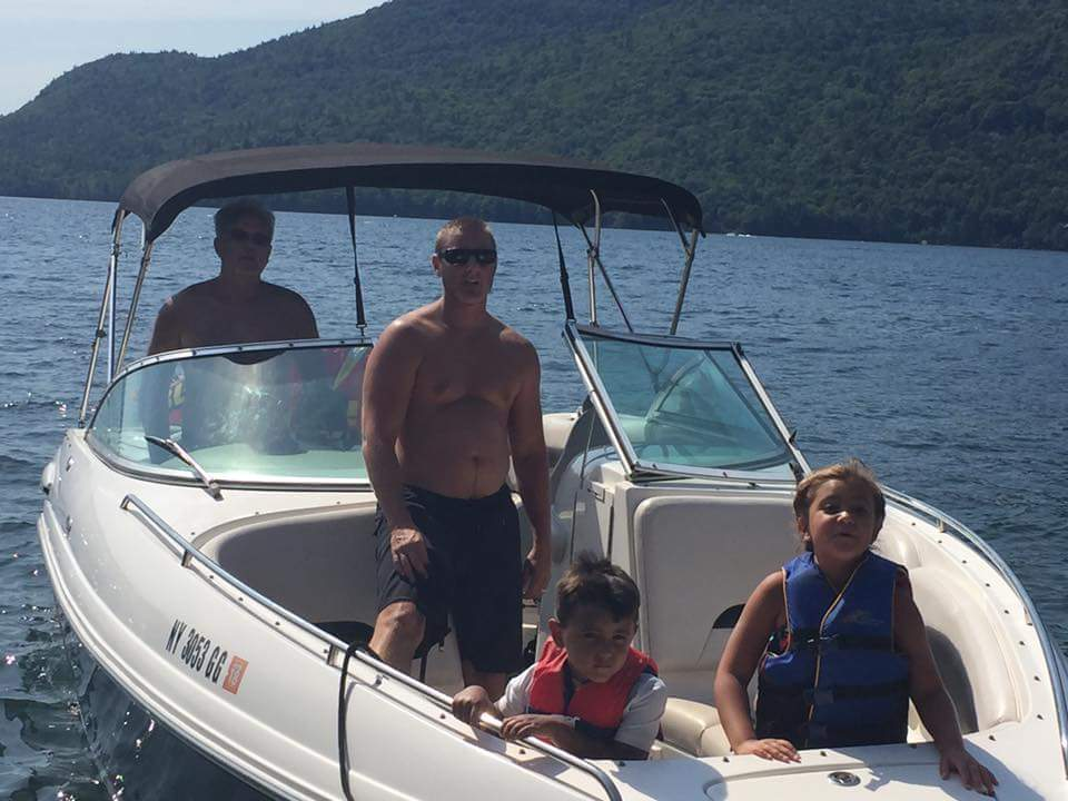 group of people boating with bob