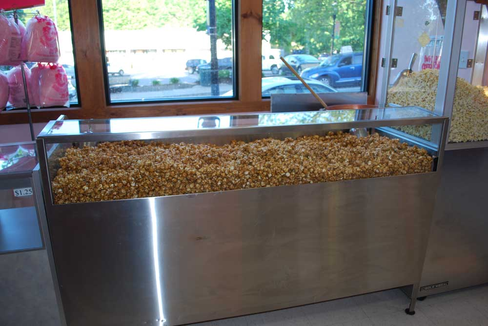 caramel popcorn display case