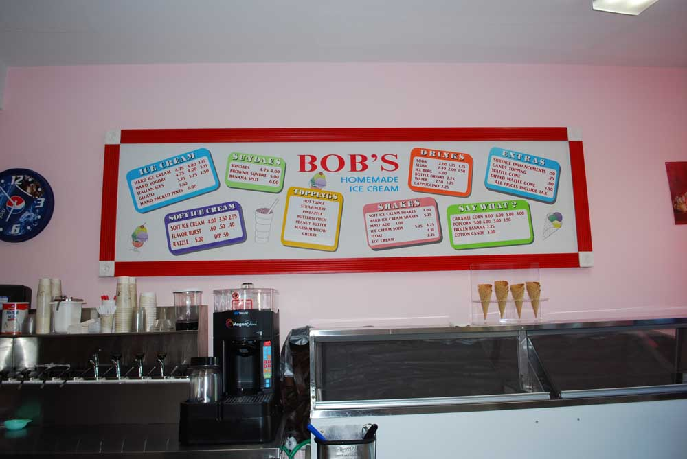 bobs pricing and flavor sign