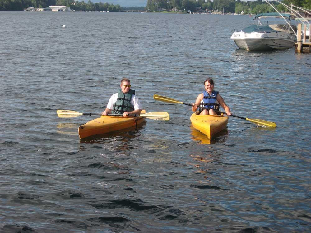 Couple Kayaking on Lake George