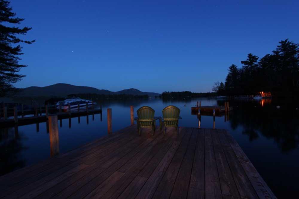 Dock overlooking Lake George