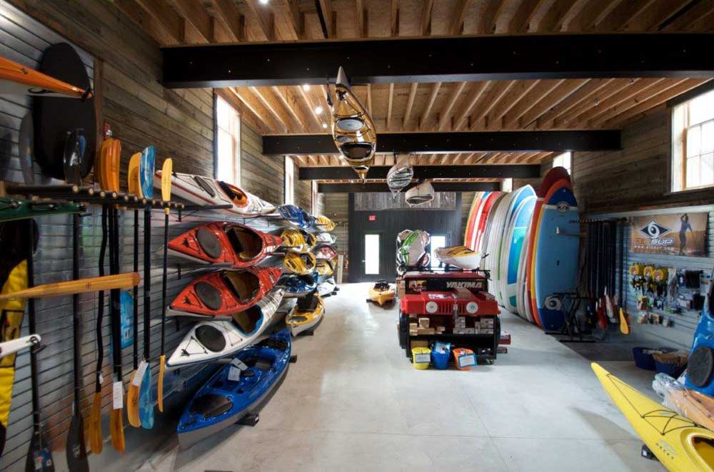 kayak and other water equipment storage