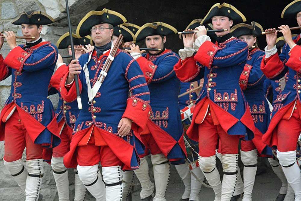 group of war reenactors