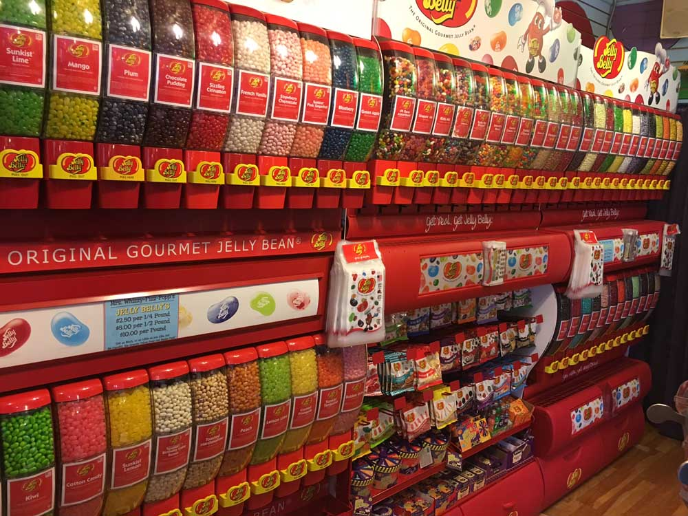jelly belly wall of dispensers