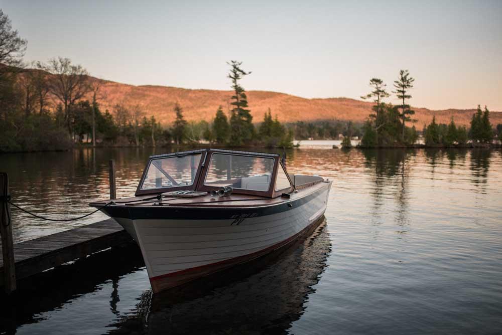 boat docked on still waters
