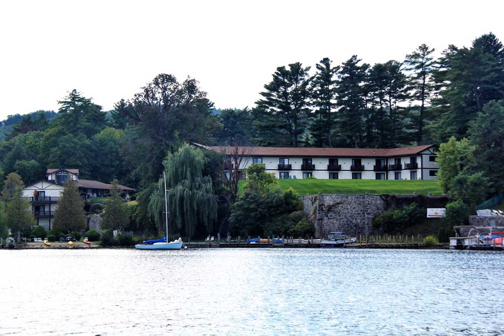 View of Melody Manor from Lake George