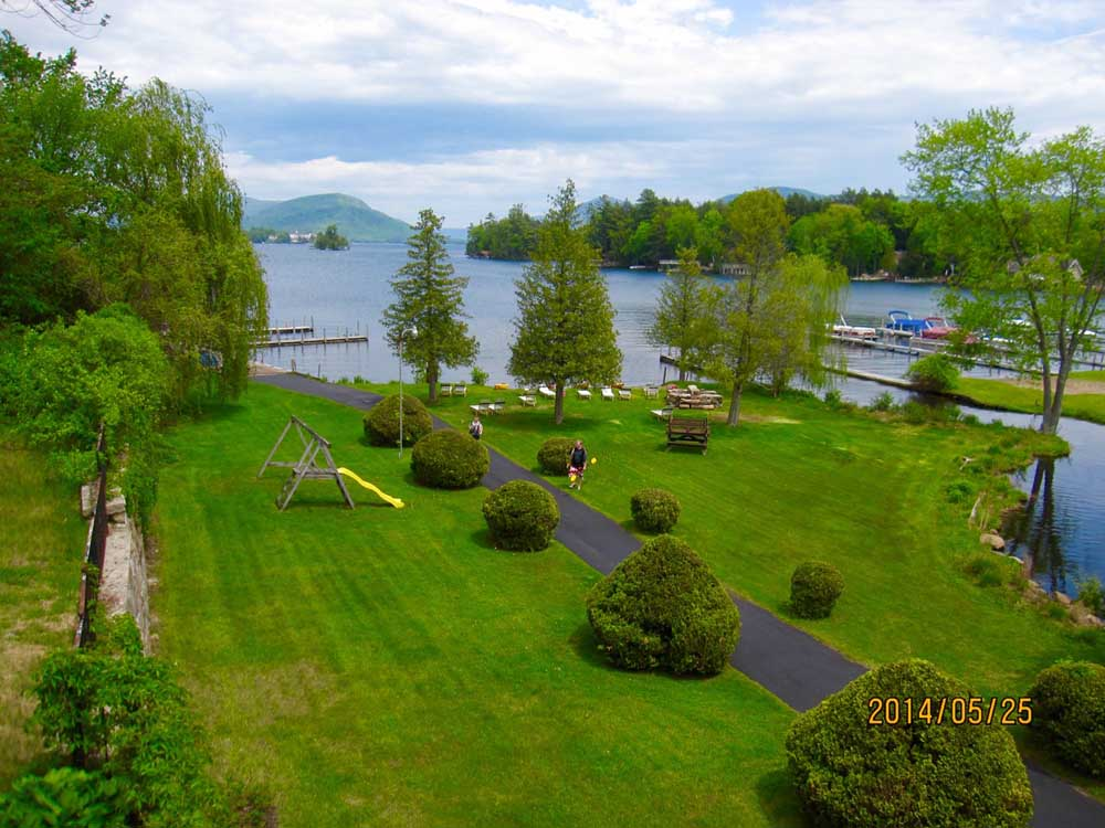 Lawn Area on the shore of Lake George