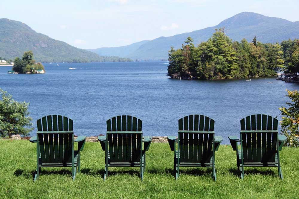 Adirondack Chairs overlooking Lake George