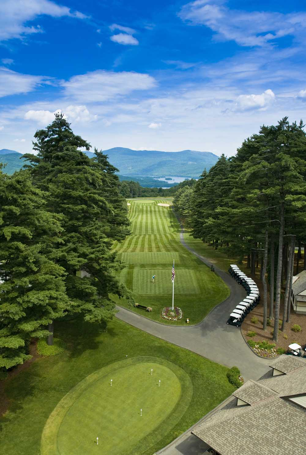 Aerial Gold Course View