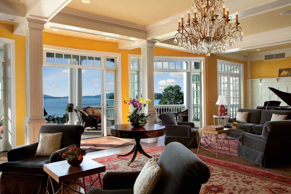 Lobby overlooking Lake George