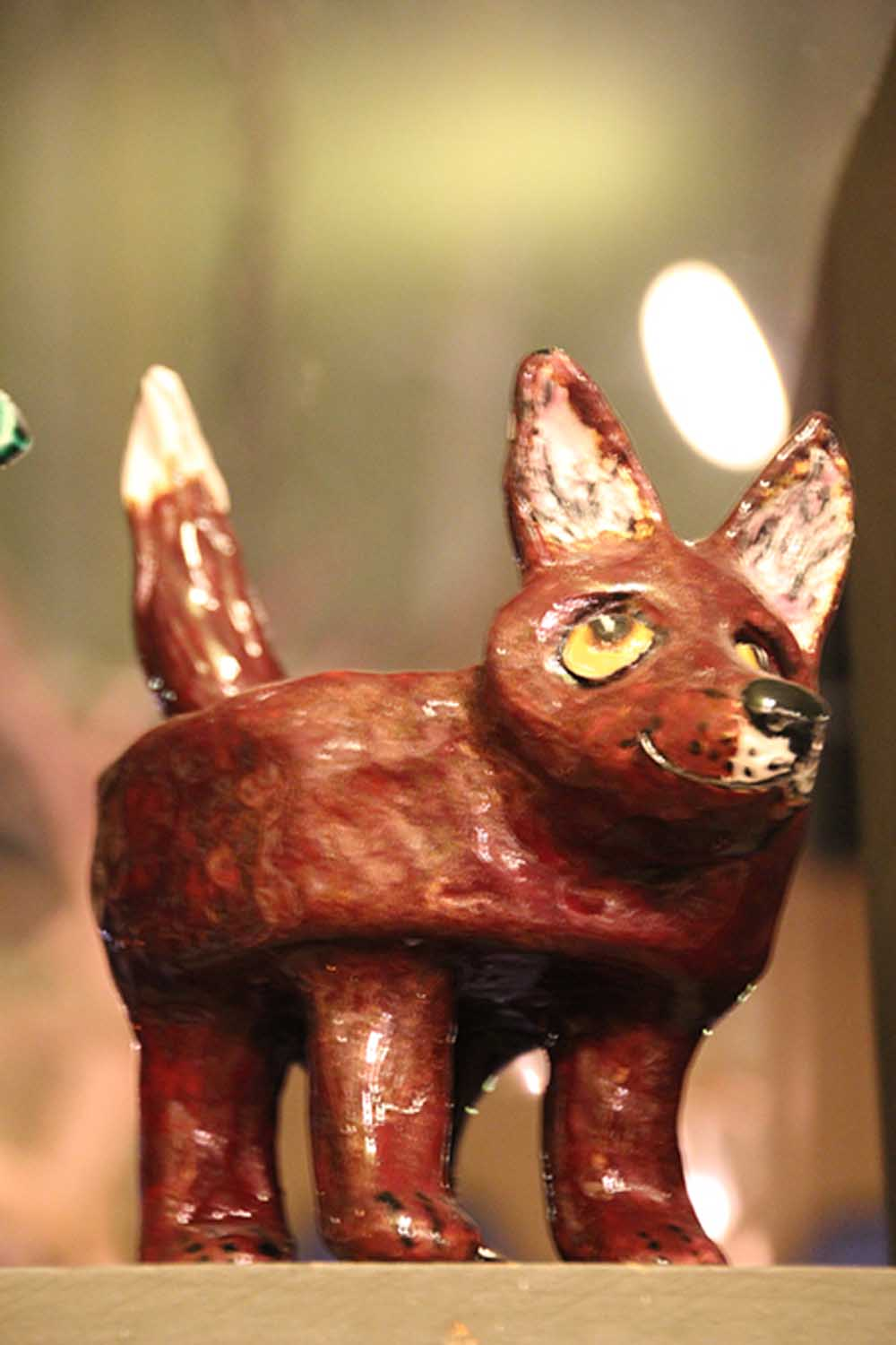 ceramic fox sculpture