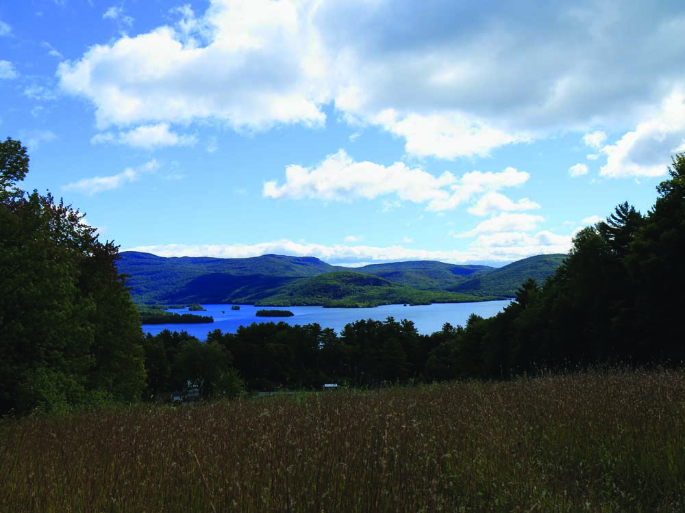beautiful view of mountains and lake george