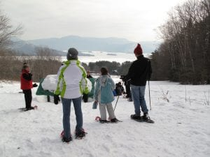 up yonda snowshoe hike